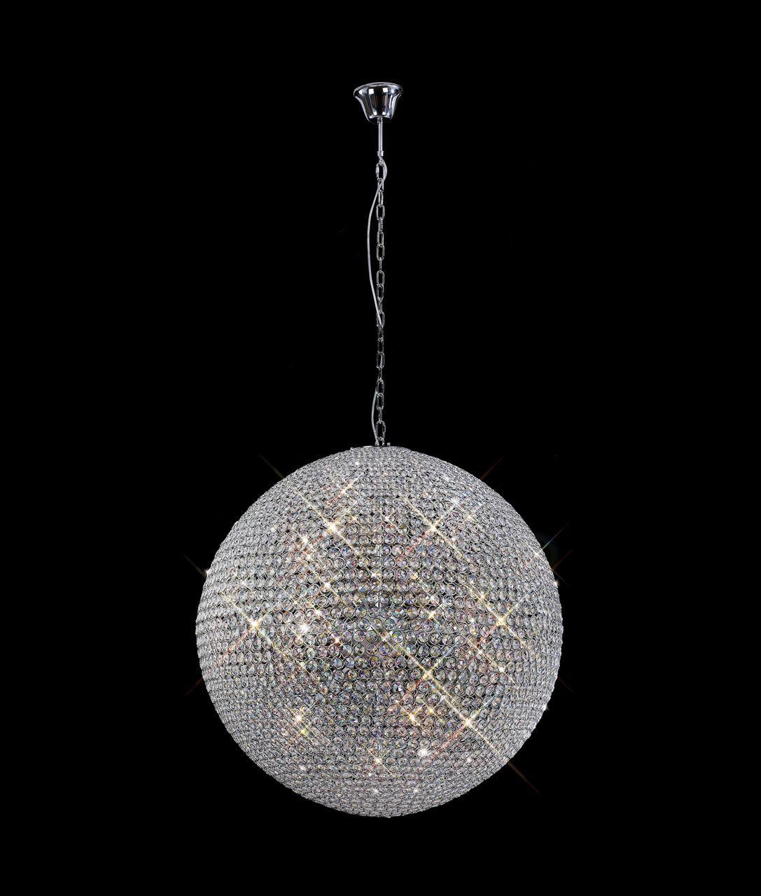 lmpara techo cristal 18 luces crystal balls - Lamparas De Techo De Cristal
