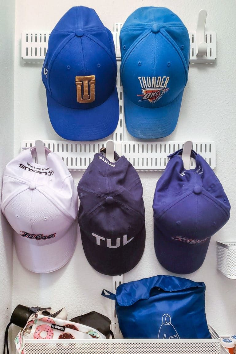 How to organize and store baseball hats small closet