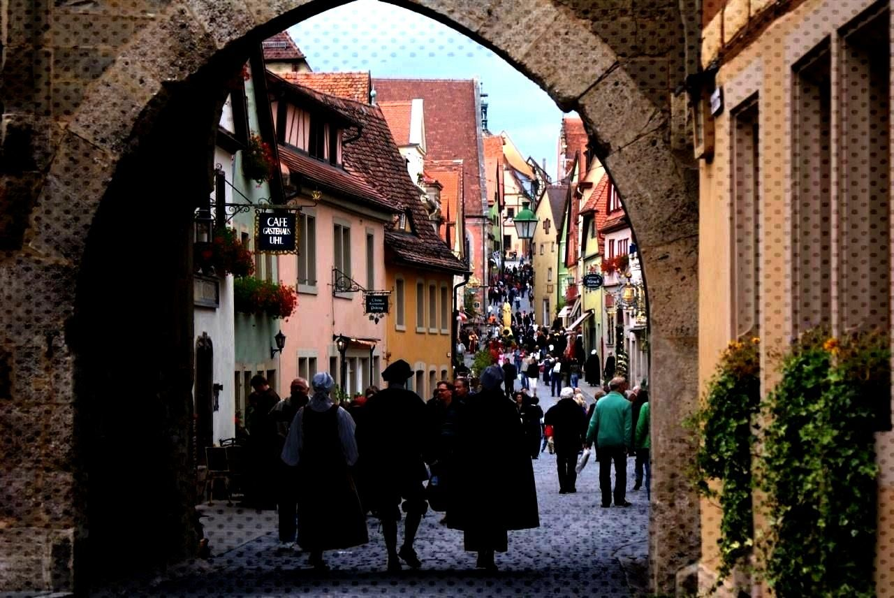 in Rothenburg ob der Tauber -Medieval view in Rothenburg ob der Tauber -view in Rothenburg ob der T