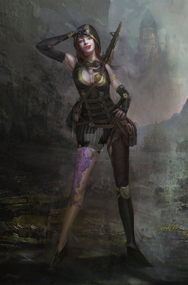 My Artwork Sniper By Phuthieu1989 Fantasy Girl Female Character Concept Artwork