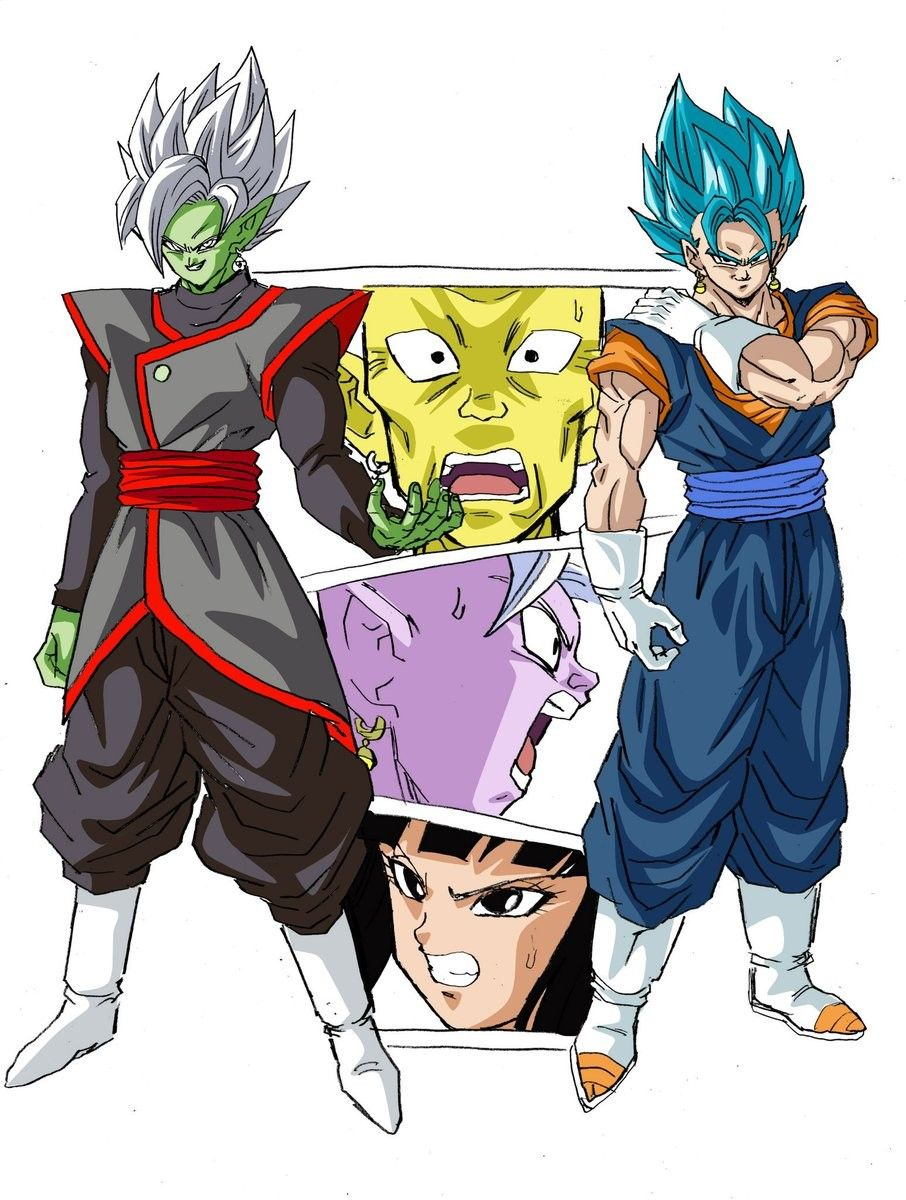 Zamasu Fusion Vegito Supreme Kai Gowasu Supreme Kai Shin And