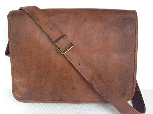 3d71fb9a11585 Leather Messenger Bag Handmade 16 inch Full Flap « Better product Adds for  any home