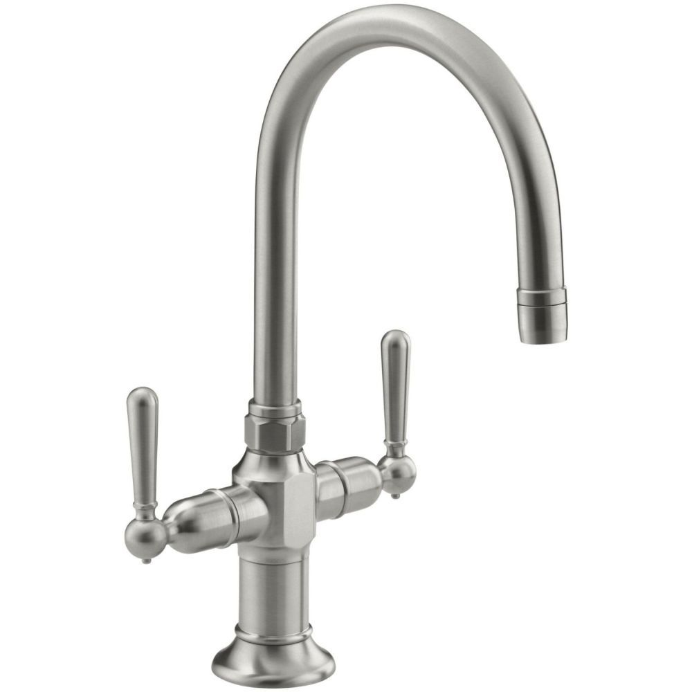 Kohler K 7342 4 Bs Hirise Brushed Stainless Steel Two Handle Single