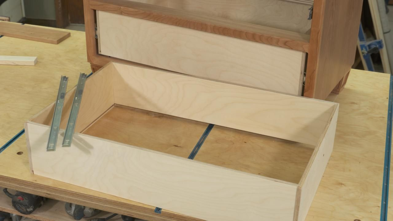 Installing Drawer Slides Drawer Box Components Wwgoa In 2020 Installing Drawer Slides Woodworking Plans Diy Woodworking Furniture Plans