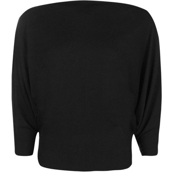 Boohoo Saskia Rib Batwing Sweat | Boohoo ($10) ❤ liked on Polyvore featuring tops, hoodies, sweatshirts, long sleeve jersey, long sleeve sweatshirt, quilted sweatshirt, basic tshirt and crewneck sweatshirt