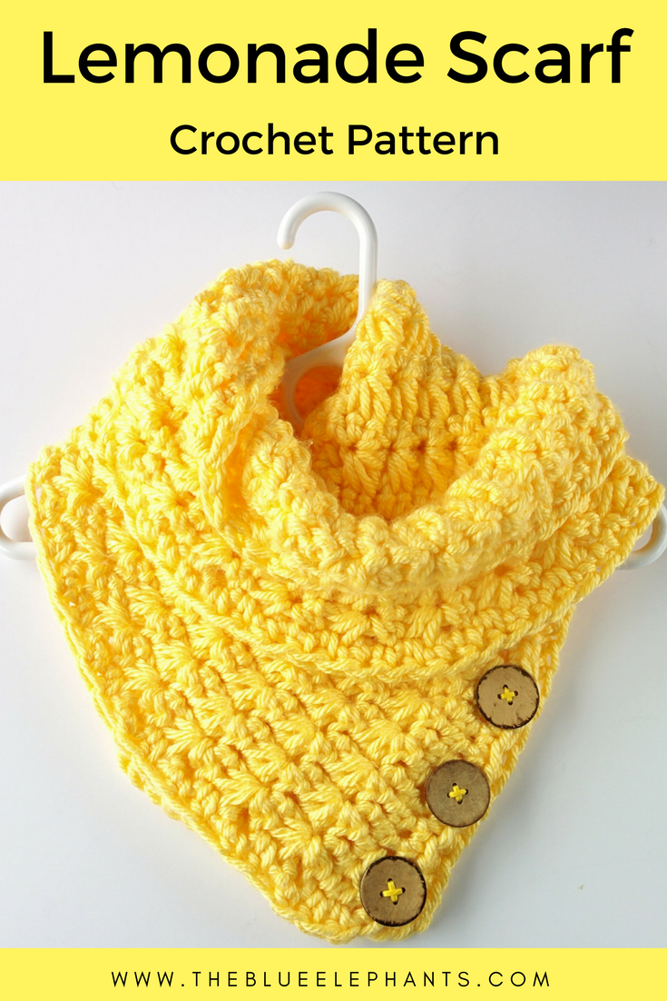 The Lemonade Scarf: Free Crochet Scarf Pattern   Pinterest   Tejido ...