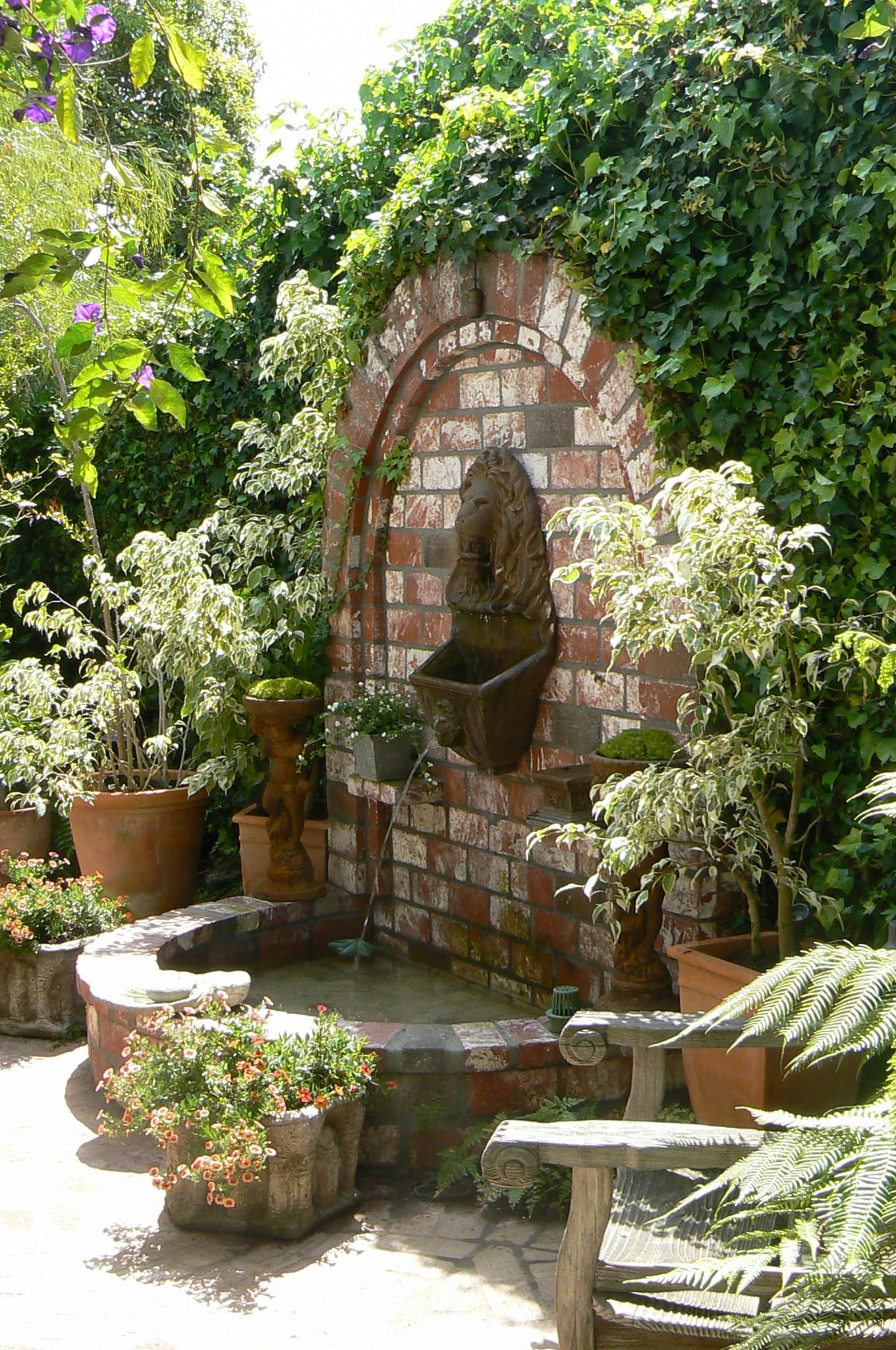 lions head fountain on garden wall beautiful cool stuff to buy