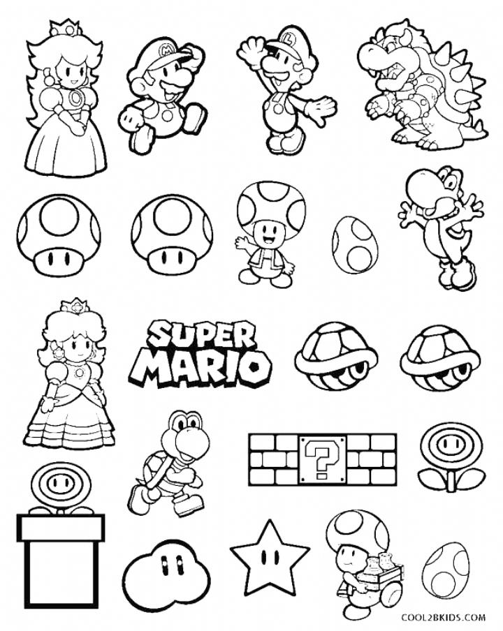 Super Mario Coloring Pages Free Printable Mario Brothers Coloring Pages For Kids Coloring Super Mario Coloring Pages Mario Coloring Pages Super Mario Tattoo