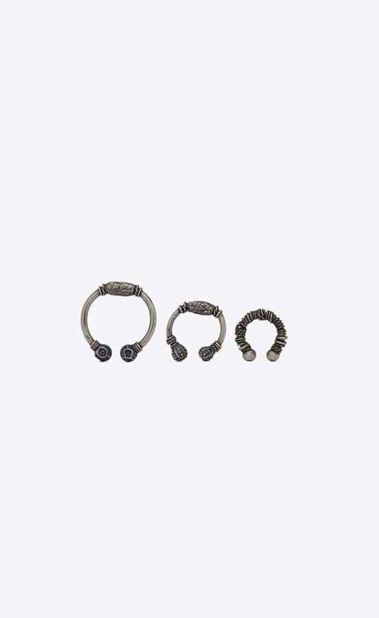 e31ca342cb Saint Laurent Marrakech Berber Ear Jewelry In Silver-Toned Brass ...