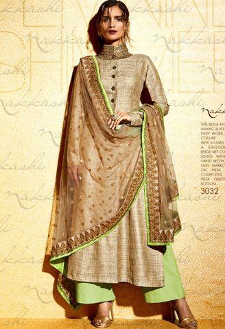 Beige Khadi Designer Suit..@ fashionsbyindia.com #designs #indian ...