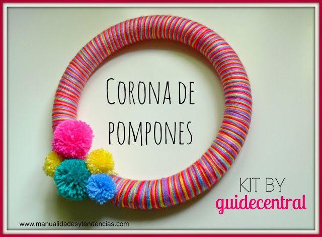 Home decor: Corona de pompones / Pom pom garland