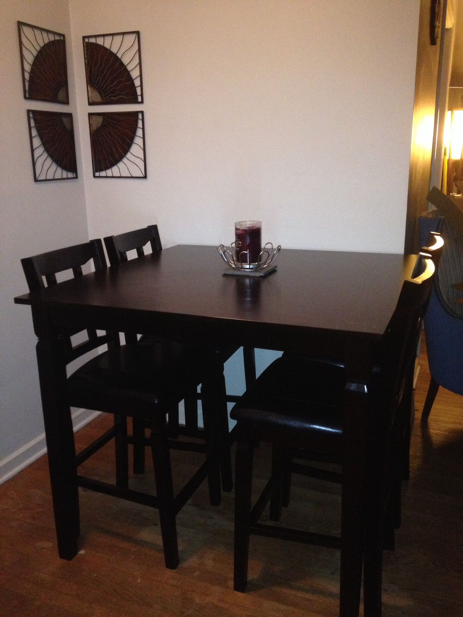Espresso Pub Table and chairs from Big Lots! Works great in our small dining space & Espresso Pub Table and chairs from Big Lots! Works great in our ...
