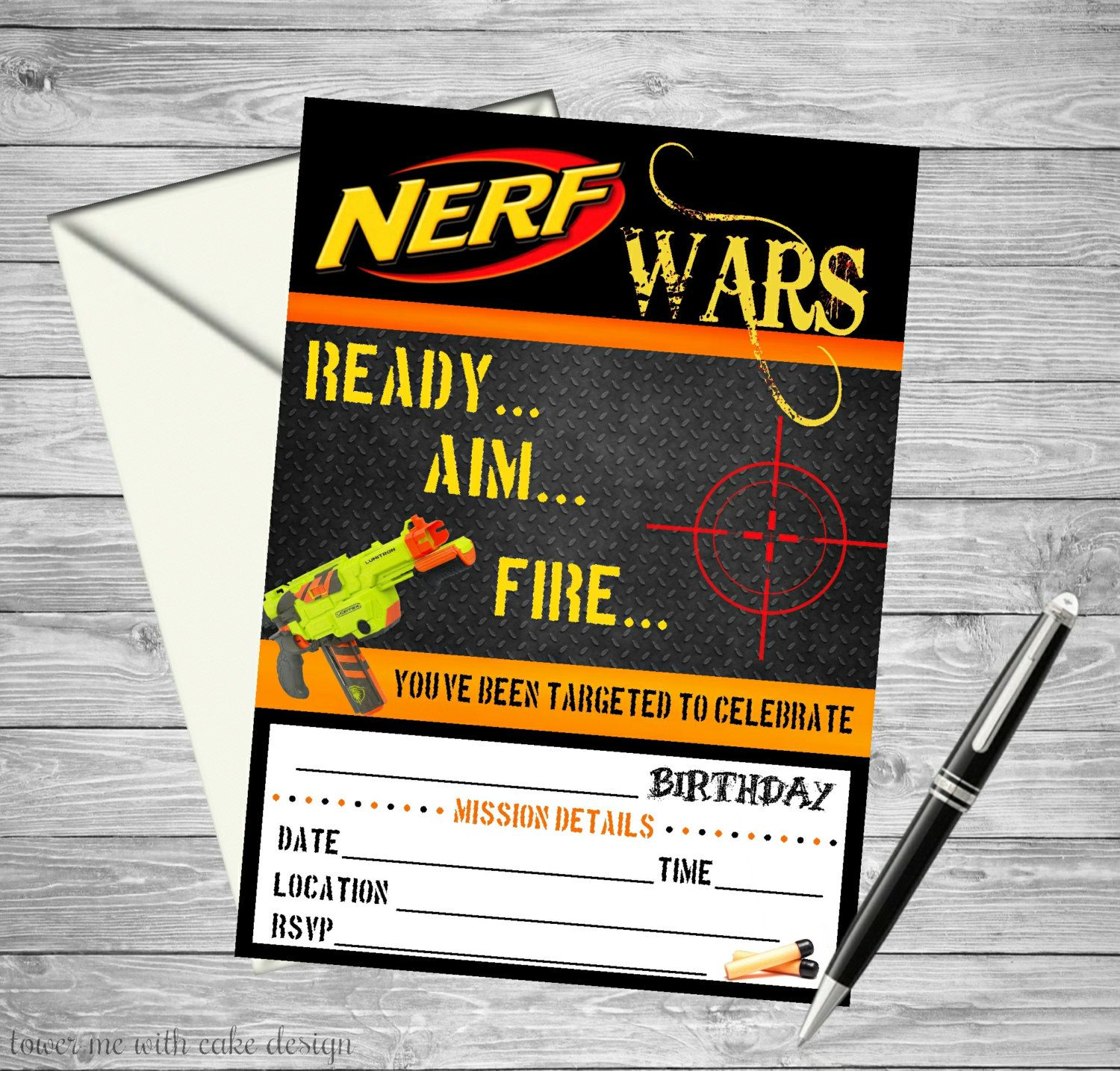 graphic about Free Printable Nerf Birthday Invitations named Pin upon James Nerf Celebration