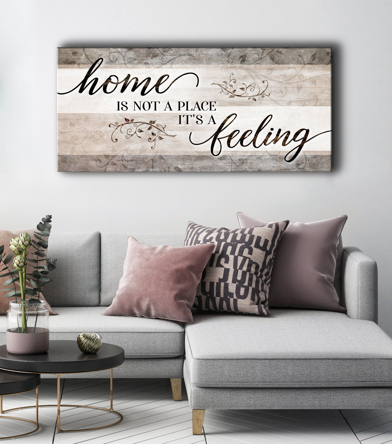 Photo of Home Is Not A Place It's A Feeling  Wall Art , Canvas Wall Art