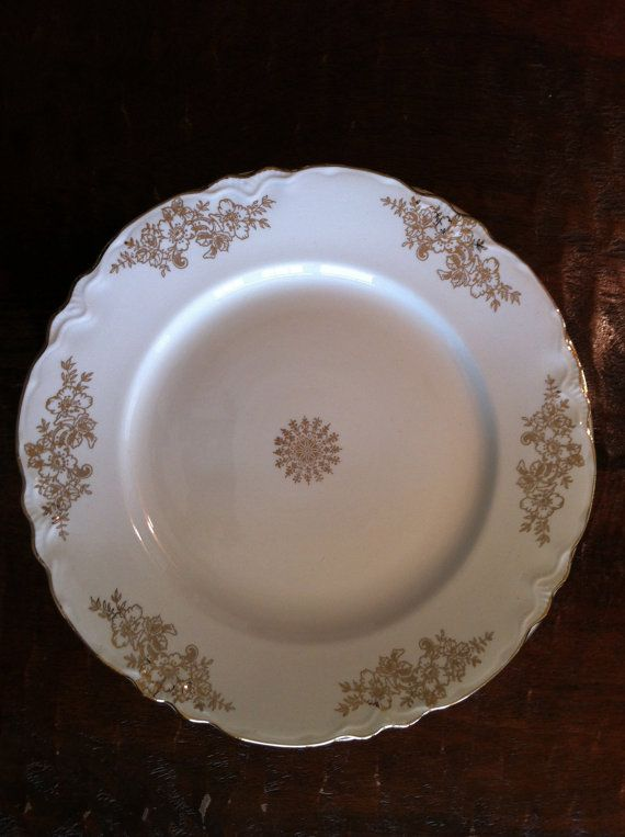 Homer Laughlin  Creamy White Plate  Virginia by OnceAgainClothes, $25.00