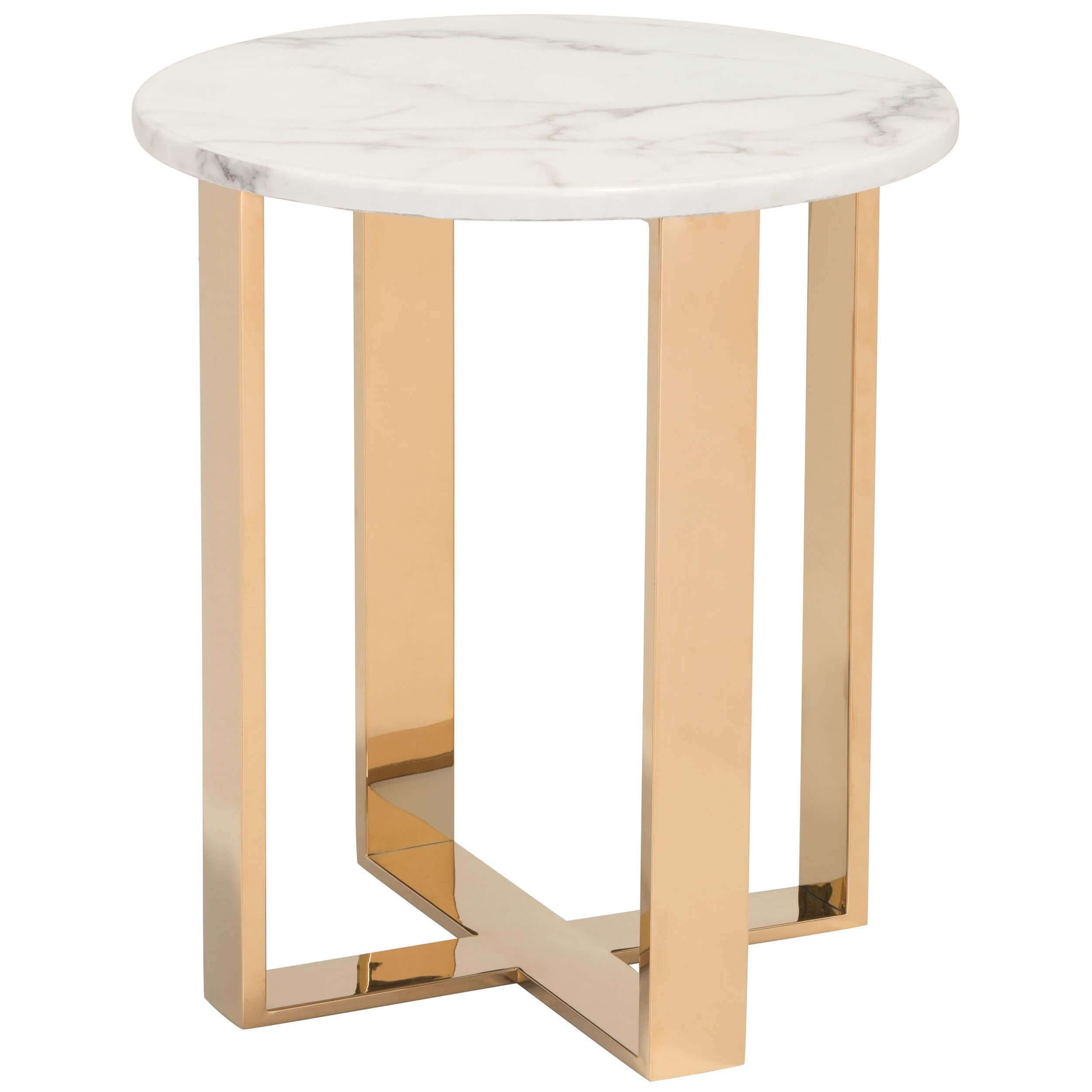 Atlas End Table Gold Marble End Tables Gold End Table End Tables