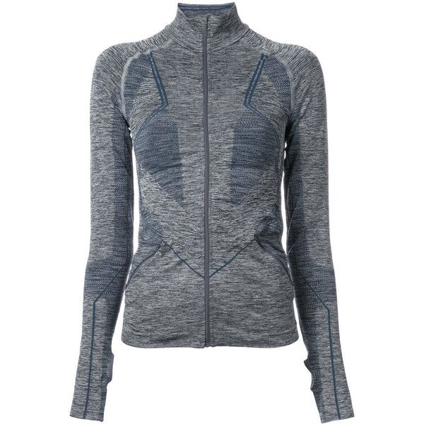 Lndr zipped jacket (1.825 NOK) ❤ liked on Polyvore featuring outerwear, jackets, grey, grey jacket, grey zip jacket, zip jacket, zipper jacket and gray jacket