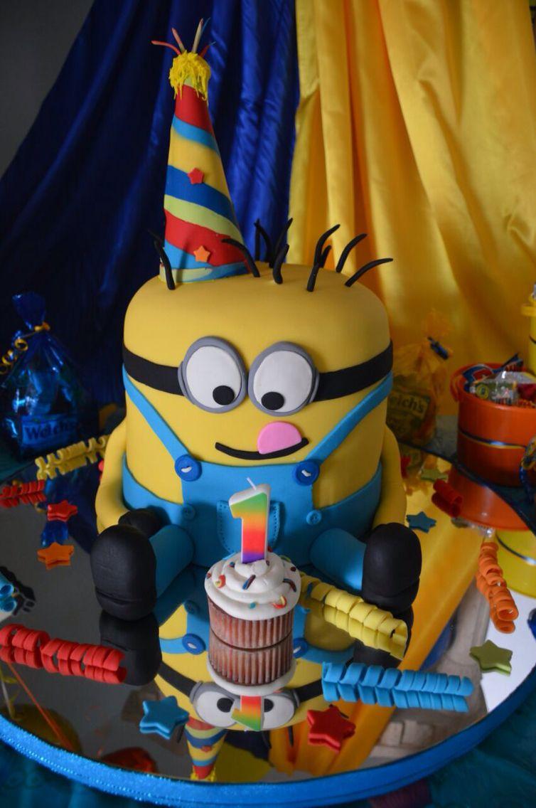 Minion First Birthday Cake Birthday Party First