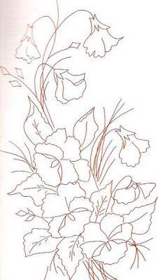 Riscos Desenhos De Flores Para Colorir E Pintar Em Tecido Riscos