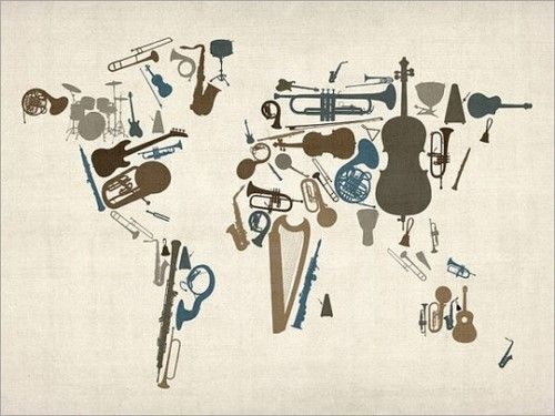 Music instruments map of the world art print by artpause on etsy music instruments map of the world art print by artpause on etsy gumiabroncs Gallery