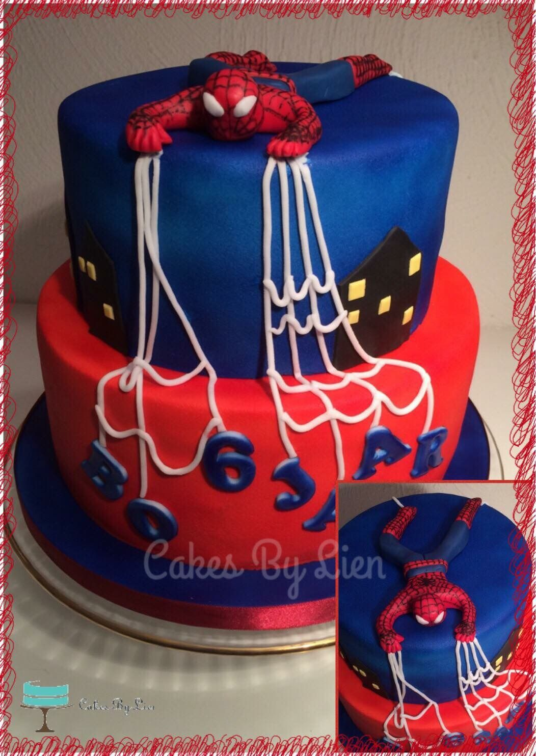 Voorkeur Bo werd 6 jaar oud en houdt van Spiderman! De taart is  #YX-63