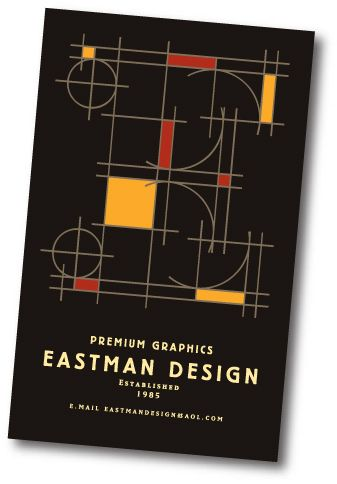 Promotional poster for Eastman Design, Michigan