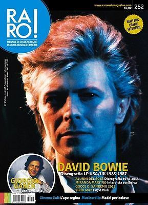 DAVID BOWIE Tribute * RARO Italian OUT OF PRINT Magazine 2013 * Very Scarce