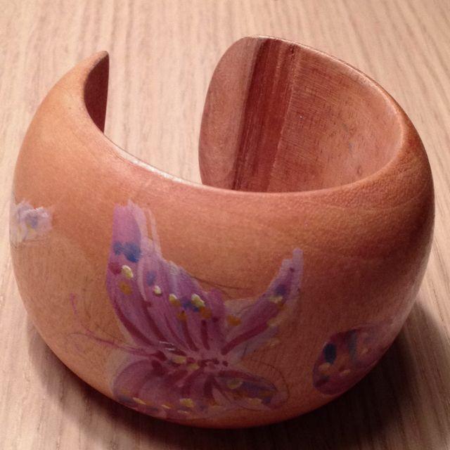 My wooden Butterflies Bracelet