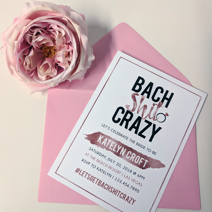 Bach Shit Crazy Bachelorette Party Invitations Personalize Your Own