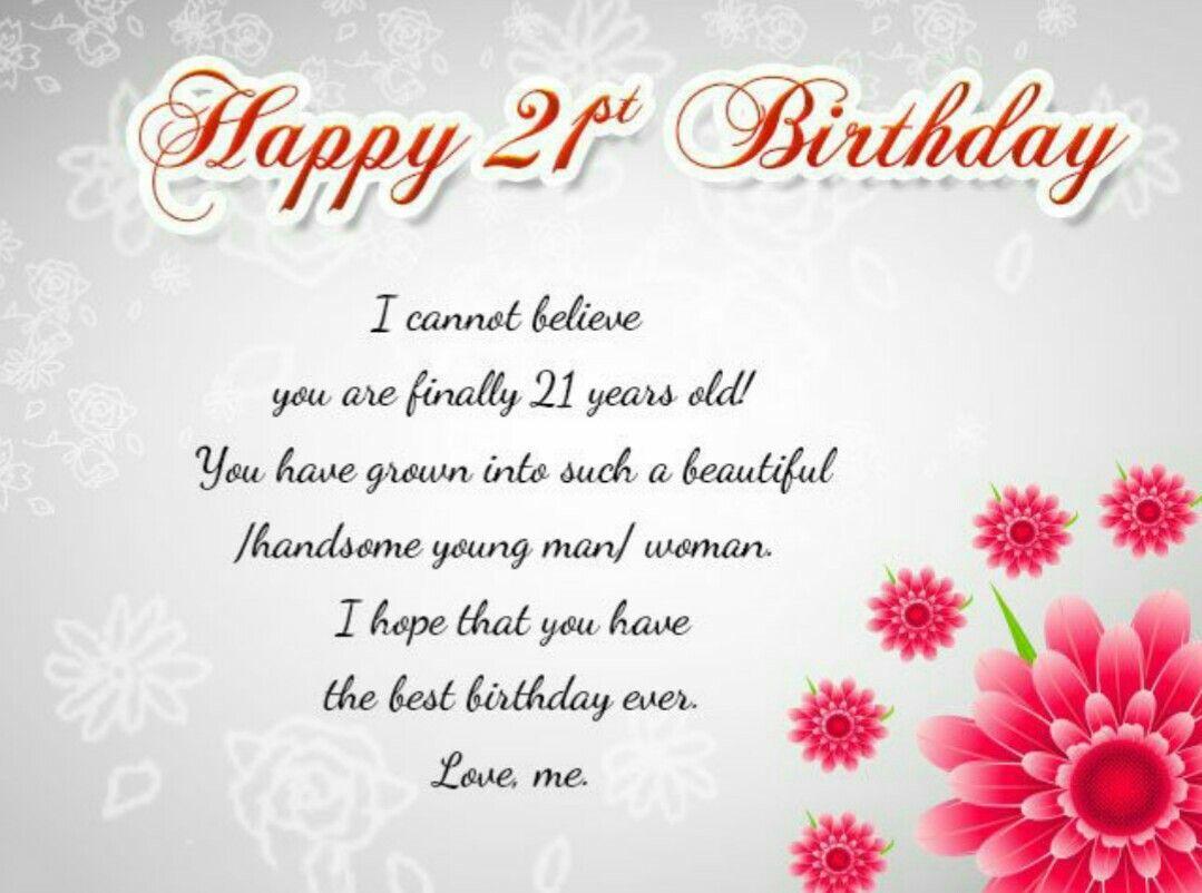 Pin by Tina Tina on Happy birthday Happy 21st birthday