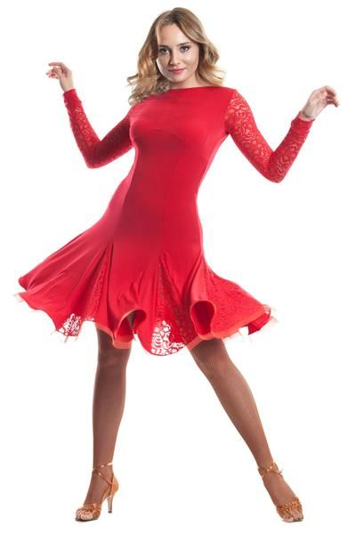 1b0da8e986a This epic ballroom dance costume will make you a star on the dance floor!  Features solar skirt above the knee length with lace inserts and crinoline  hemline ...