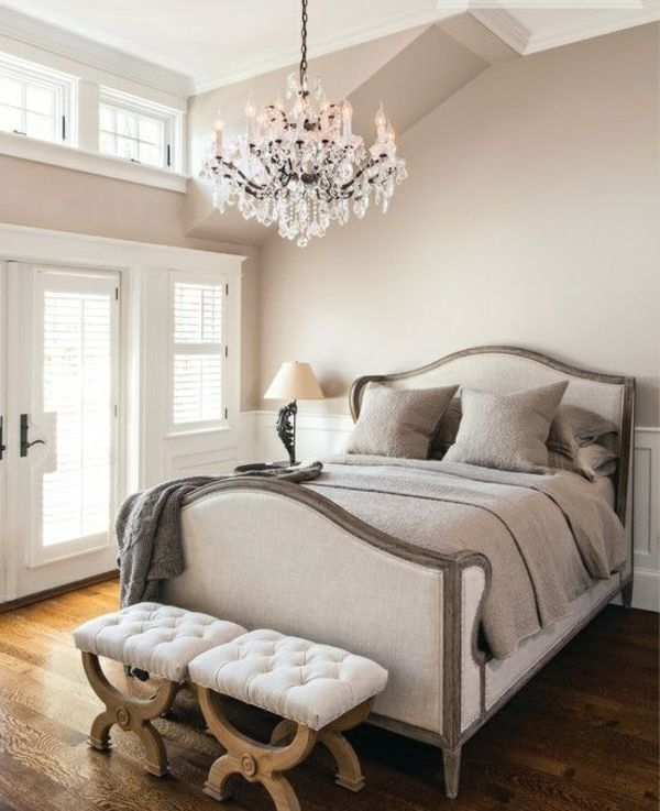 wohnung design ideen französischer stil schlafzimmer kronleuchter, Schlafzimmer design