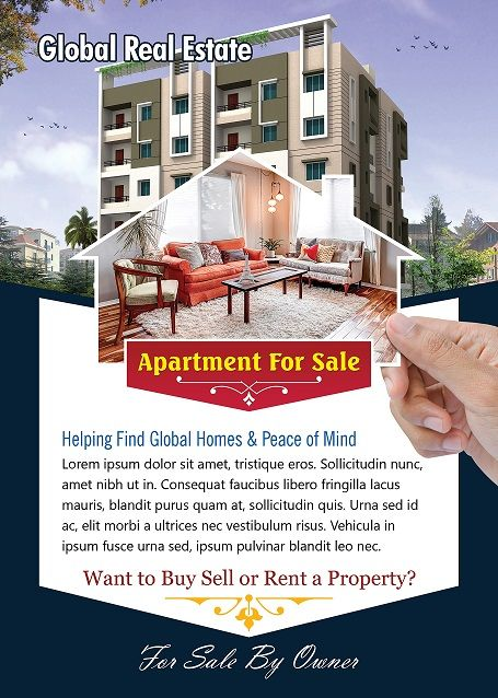 Apartment For Sale Flyer  Free Flyer Designs    Sale