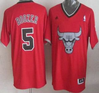 Chicago Bulls #5 Carlos Boozer Revolution 30 Swingman 2013 Christmas Day Red Jersey