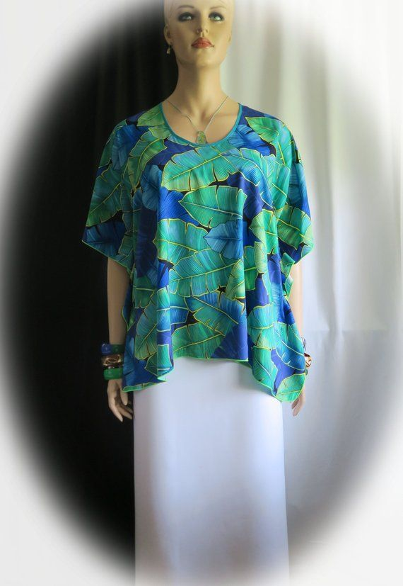 6feb0c006 Ocean Ti leaves Hawaiian Polynesian Clothing Woman s Butterfly caftan