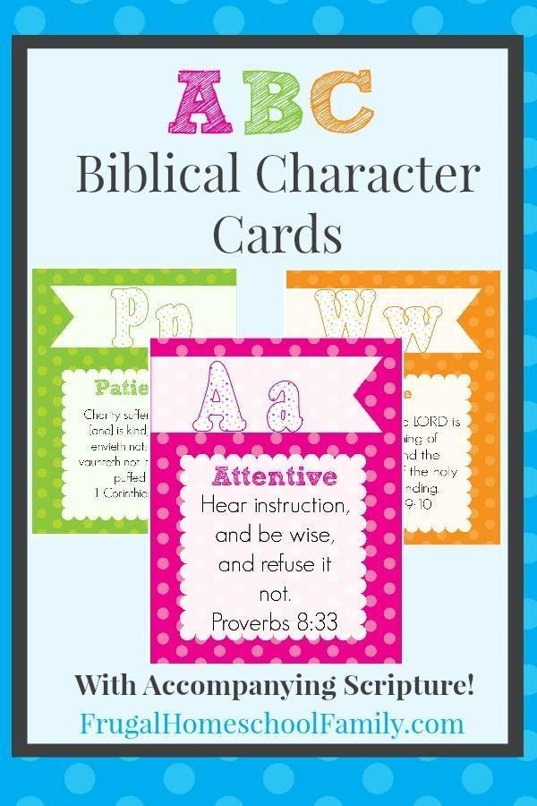 FREE ABC Biblical Character Cards | Teacher Tips/Activities