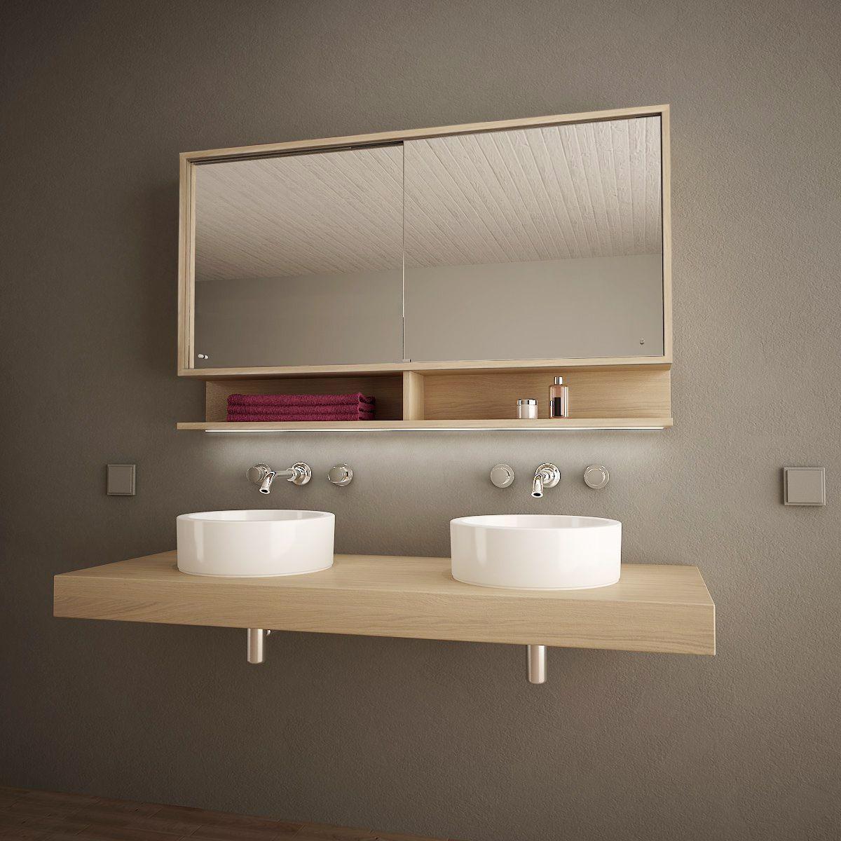 Spiegelschrank Mit Schiebet Ren Und Led Masima 989705218 Badezimmer Badmobel Badezimmermobel B In 2020 White Marble Bathrooms Bathroom Vanity Units Bathroom Design