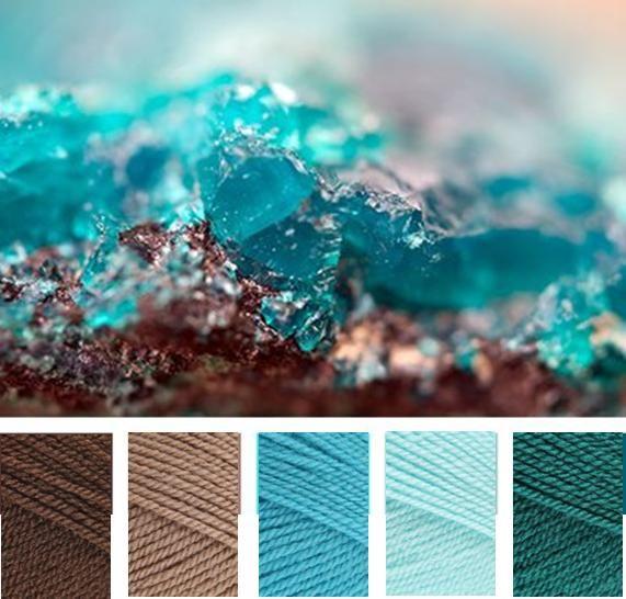 Walnut Mocha Turquoise Sherbet Teal Deken Tuin