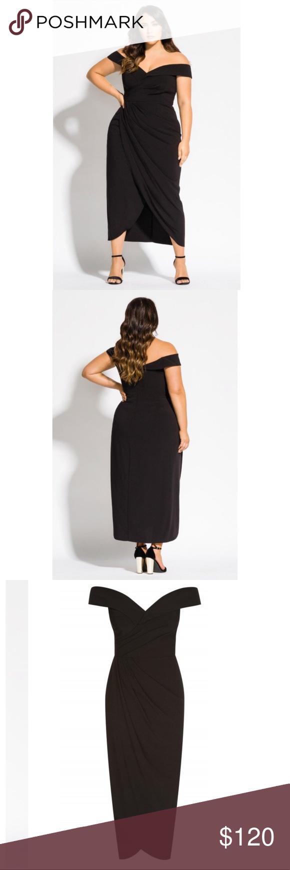 City Chic Size 18 Black Dress Chic Black Dress City Chic Dresses Black Strapless Maxi Dress [ 1740 x 580 Pixel ]