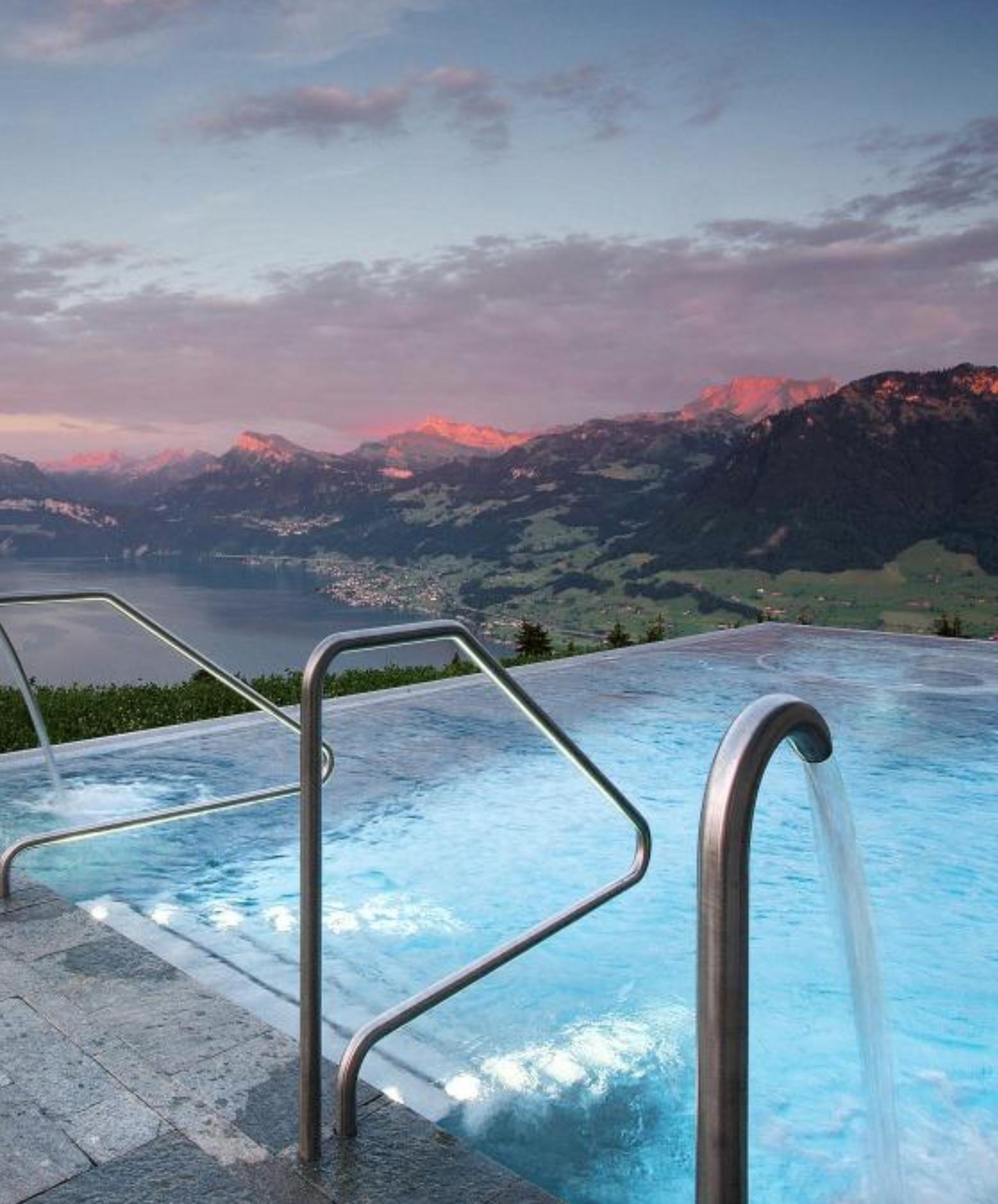Best Hotel In Switzerland With Infinity Pool Hotel Villa Honegg Switzerland 914 Metres Above Sea Level The Hotel Villa Honegg S Infinity Pool Has Views Hotel Villa Honegg Villa Honegg Switzerland Hotels