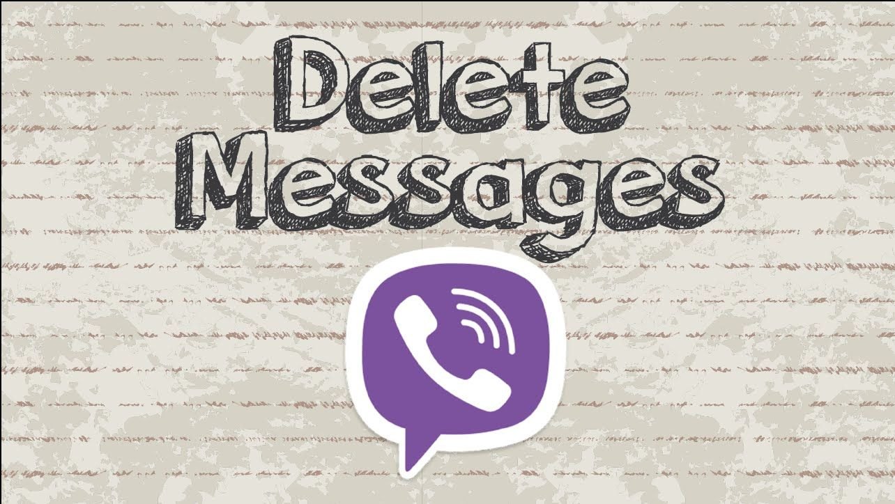 How to delete Viber messages video youtube social
