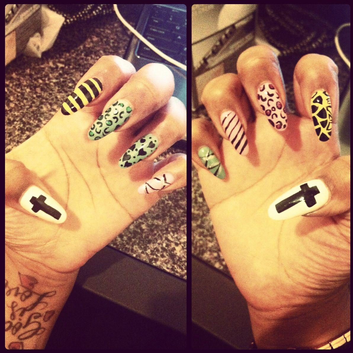 pointy nail design real nails