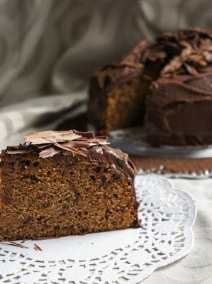 Bourbon Spice Cake with Caramel Chocolate Frosting