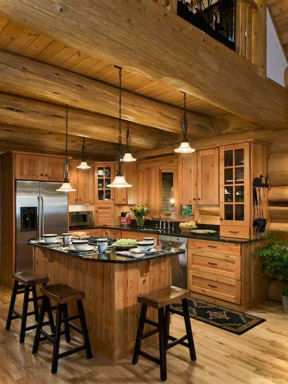 40+ Kitchen Ideas Giving the Warm Cabin Designs in Amazing ...