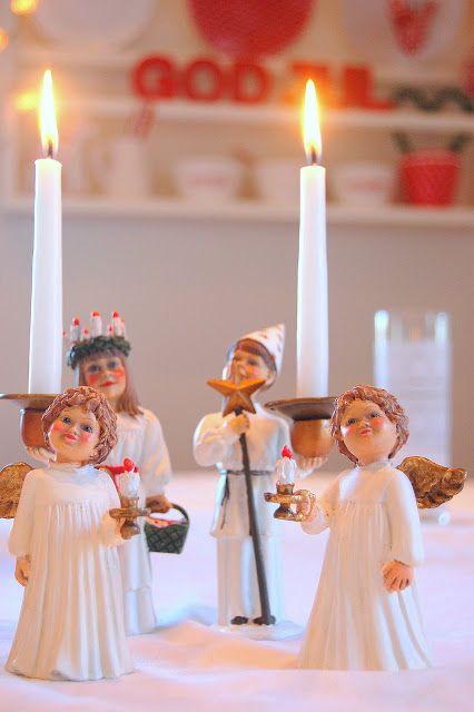 Vakkert Beautiful 3 Skandinavisk Jul Santa Lucia Jul
