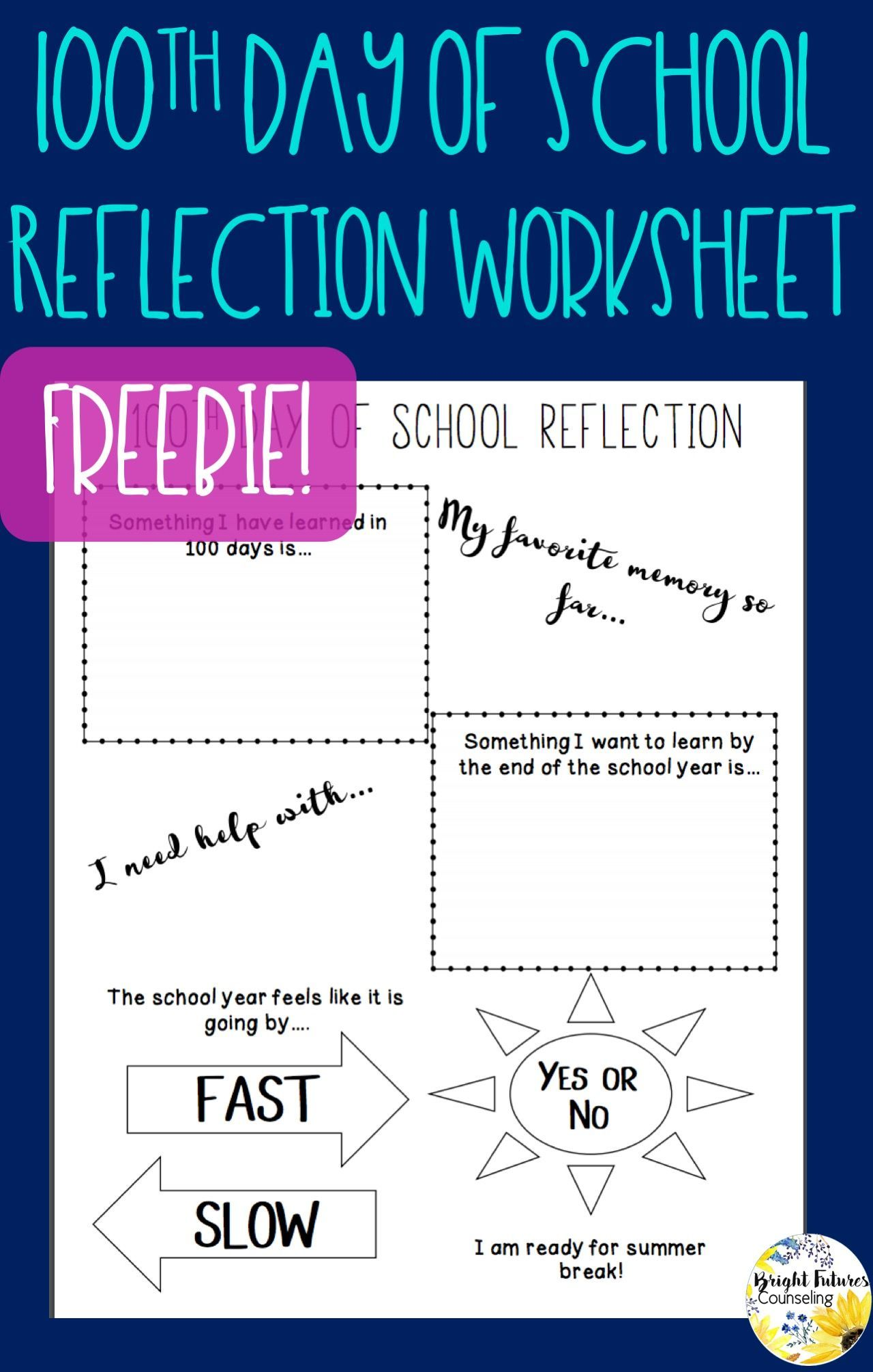 100th Day Of School Reflection