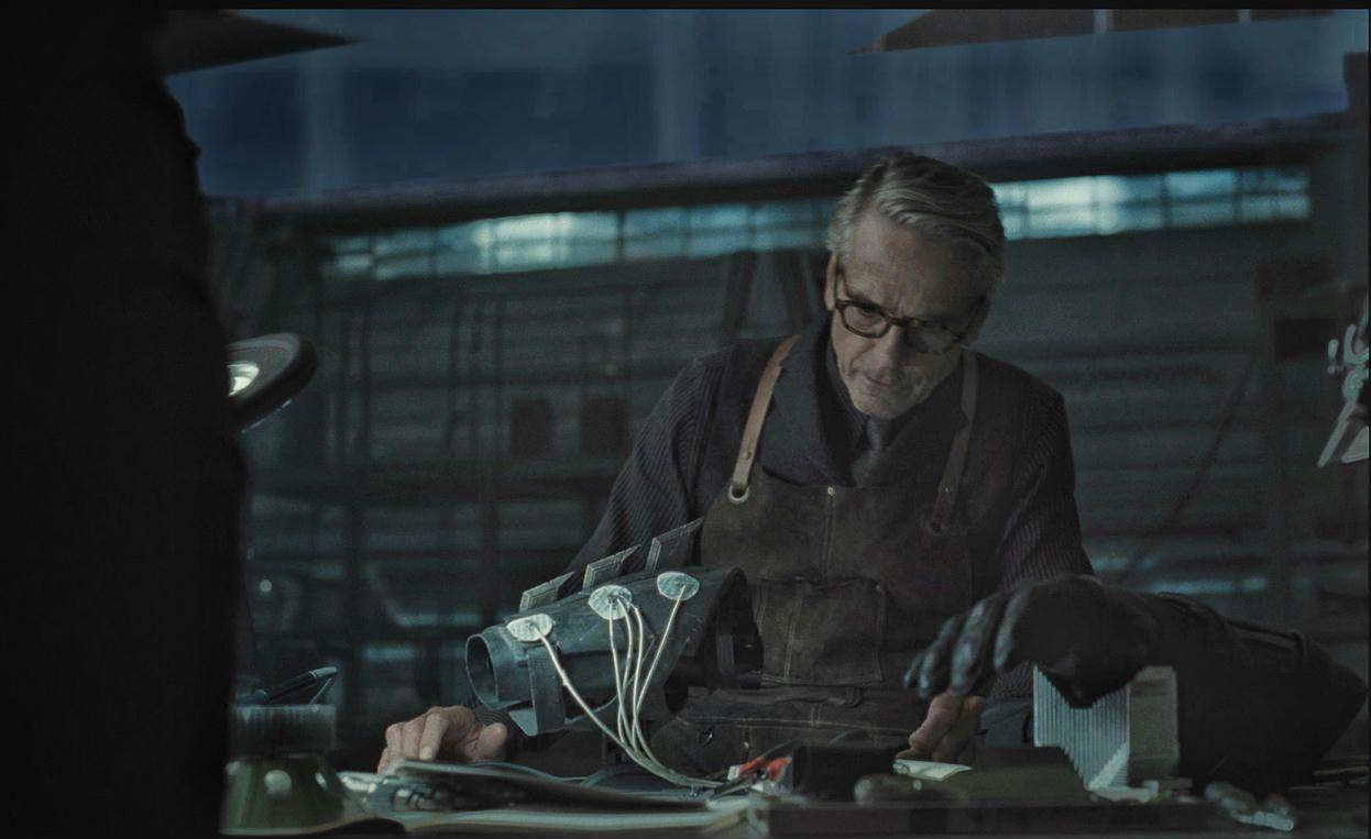Alfred working at the abandon Wayne aerospace hanger. | Justice league aquaman, Superman dawn of justice, Black adam shazam