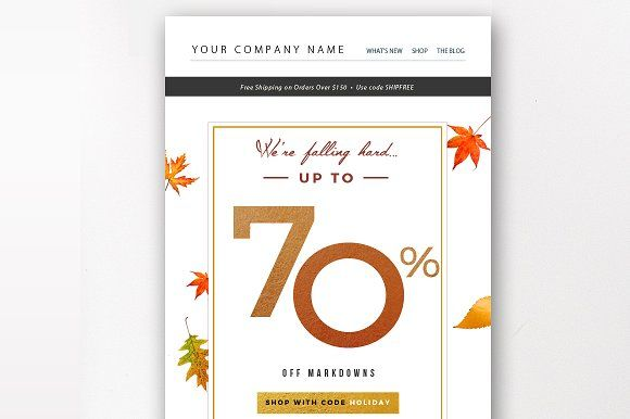 Holiday Sale Email Template By By Stephanie Design On
