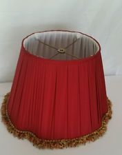 Large custom made silk frilly naomi di gavriel oval bell red lamp large custom made silk frilly naomi di gavriel oval bell red lamp shade pleated aloadofball Choice Image