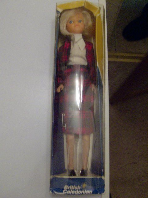 Collectable Doll BRITISH CALEDONIAN 'CALEDONIAN GIRL' Air Hostess + KILT Boxed | 8+4